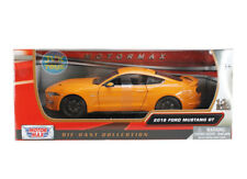 2018 Ford Mustang GT Orange 1/24 Scale Diecast Model By Motor Max 79352
