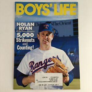 Boys' Life Magazine April 1991 MLB Nolan Ryan of the Texas Rangers 5,000 Strikes