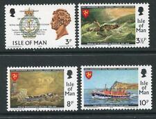 Isla De Man 1974 Umm estampillada sin montar o nunca montada sello conjunto RNLI vida barco 150TH aniversario SG 42-45