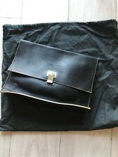 Proenza Schouler Black Soft Leather Clutch Bag