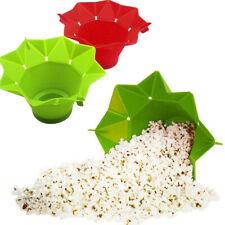 Kitchen Silicone Popcorn Bowl Popcorn Popper Bowl DIY Microwave Popcorn Ma ez