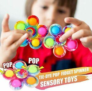 Fidget Simple Dimple Push Pop It Bubble Stress Relief Sensory Autism Spinner