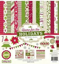 12 X 12 Echo Park Home For The Holidays Christmas Santa Scrapbook Paper Kit