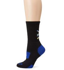 New ASICS Flash Point Socks Sz M.  M 7-9, W 8-9.5 Black/Royal Blue Lot of 2