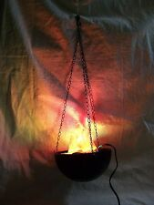 Hanging Flaming Cauldron Pot Halloween Prop Haunted House Dungeon Flame Light