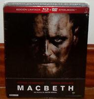 MACBETH-EDICION LIMITADA-STEELBOOK-BLU-RAY+DVD-NUEVO-NEW-PRECINTADO-SEALED