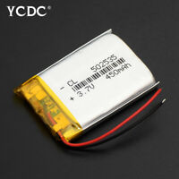 502535 3.7V 450mAh Li-ion Battery Replacement For GPS MP3 MP4 Voice Recorder CD