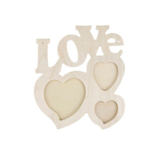 Home Wider Hollow Love Wooden Photo Frame DIY Picture Frame Art Decoration A.HF