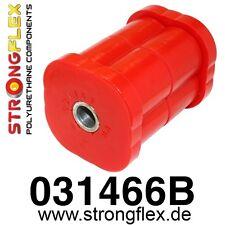2 PU Buchsen für Tonnenlager/Achsträger HA alle BMW E21  StrongFlex 80ShA rot