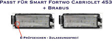 LED SMD Kennzeichenbeleuchtung Smart Fortwo Cabriolet 453 + Brabus (06)
