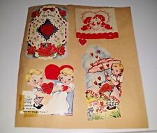 Lot 8 Vintage 1950 Valentine's Day Die Cut Greeting Cards Dunce Cowgirl Love LQ