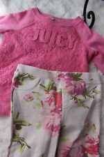 Juicy Couture Little Girl's / Toddler 3T; pink sweatshirt / floral leggings