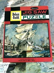 """Deluxe Guild Jigsaw Puzzle """"THREE MASTED BARK"""" James Sessions Art 378 Pieces!"""