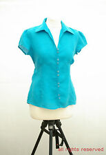 L133/42 Next Hypoallergenic - Pure Linen Turquoise Top , size UK 10, Euro 38