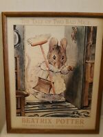 "Beatrix Potter FRAMED Print"" THE TALE OF TWO BAD MICE "" 1990 Framed  20 x 16"
