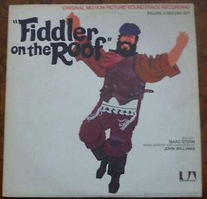 FIDDLER ON THE ROOF Original Motion Picture Soundtrack 2 LP Vinyl Record Album