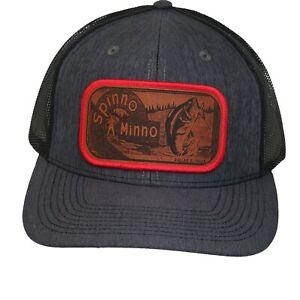 Spinno Minno Heddon Creek Chub Lure Hat Cap Trucker Snapback Men's Handmade