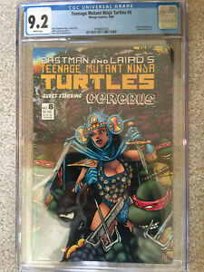 Teenage Mutant Ninja Turtles #8 CGC 9.2 Mirage Studios Cerebus 1986 TMNT Eastman