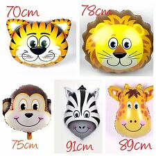 5pcs JUMBO Animal Zoo Safari Giant Foil Helium Balloons Party Supplies Lion