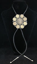 Old Pawn Navajo Begay Coin Bolo with 1881 Morgan Silver Dollar