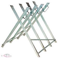 Chevalet de sciage barre de blocage réglable porte bûche 84 x 80 x 80 cm