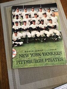 1960 World Series Program NY YANKEES vs. PITTSBURGH PIRATES, Excellent Condition