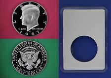 1987 S Proof John Kennedy Half Dollar With DIY Slab DCameo Flat Rate Shipping