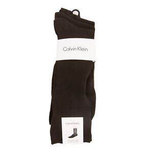 Calvin Klein Men's 3 Pair Non-Elastic Crew Socks Sz 7-12 NEW