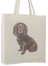 More details for boykin spaniel splash breed of dog cotton bag gusset xtra space perfect gift
