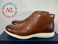 USED Cole Haan Men's Grand Tour Chukka Woodbury Leather Boots ~ Woodbury/Ivory !