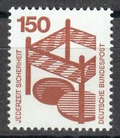 Germany 1972 MNH Mi 703 A Sc 1085 Accident prevention. Fenced-in open manhole **