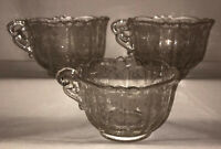 """3 Cambridge ROSE POINT CRYSTAL * 2 1/2"""" - 7 OZ COFFEE CUPS #3900/17"""