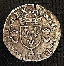HENRI II DOUZAIN AUX CROISSANTS 1550 A TTB+