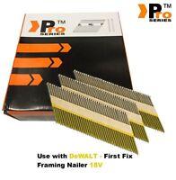 DEWALT 18v Cordless DCN692 Framing Nails,Clipped D-Head , 2k nails -     020