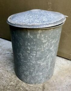 Vintage Galvanised Hill's Hoist Peg Bin Complete ~ Excellent Condition ~ Peg Tin