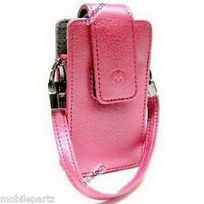 Genuine Motorola Pink Leather Fashion Pouch & Strap for V3 RAZR V3i - CFLN1822A