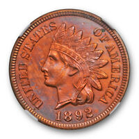 1892 Proof 1c Indian Head Cent NGC Proof PF Details Cleaned Attractive