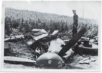 Reste einer Spitfire. Orig-Pressephoto, von 1942