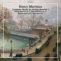 Karine Deshayes - Henri Marteau: Complete Works for String Quartet I [CD]