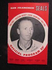 '63 Western Hockey League Program San Francisco Seals Nick Mickoski