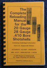 Loadbooks USA 20, 28 and 410 .410Gauge Shotshells Reloading Manual  Latest Ed.