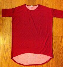 LulaRoe IRMA Size XXSMALL Deep Red and Burgundy Triangles EUC