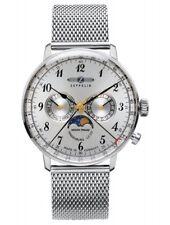 Zeppelin Herrenuhr Uhr Hindenburg Mondphase Milanaise Armbanduhr 7036M-1