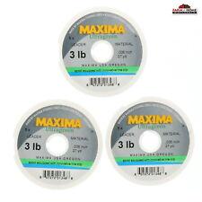 (3) Maxima Ultragreen Fly Fishing Leader 3lb ~ New