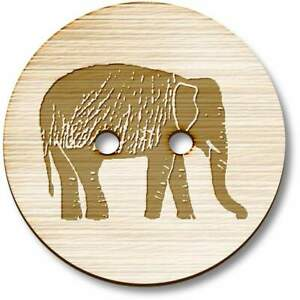 'Elephant' Wooden Buttons (BT006056)