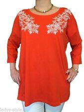 Locker sitzende Damenblusen, - Tops & -Shirts aus Baumwolle in Größe 50