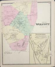 Antique Map Wolcott, CT - FW Beers Atlas of New Haven County 1868