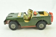 Telephone Jeep Army Green Tin Friction Japan Litho