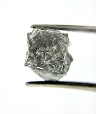 Big Cube Uncut Natural Diamond 7.54TCW Gray Silver Sparkling color Raw Diamond