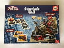 SUPERPACK 4 EN 1. ULTIMATE SPIDER-MAN MARVEL EDUCA. 2 PUZZLES + DOMINO + IDENTIC